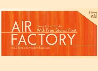 Air Factory Sans Serif Font