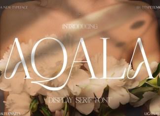 Aqala Display Font