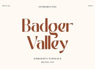 Badger Valley Sans Serif Font