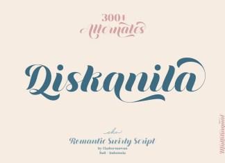 Diskanila Bold Script Font