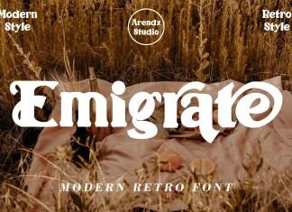Emigrate Display Font