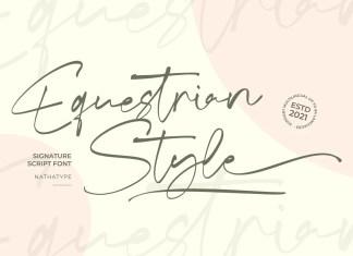 Equestrian Style Script Font