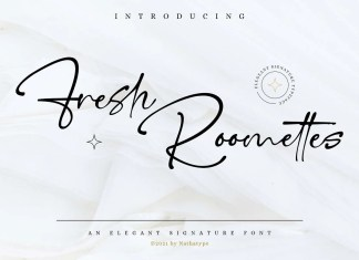 Fresh Roomettes Handwritten Font