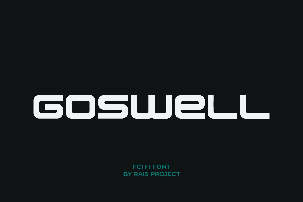Goswell Sans Serif Font