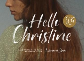 Hello Christine Script Font