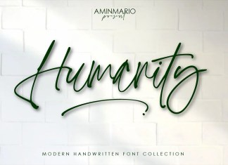 Humanity Handwritten Font