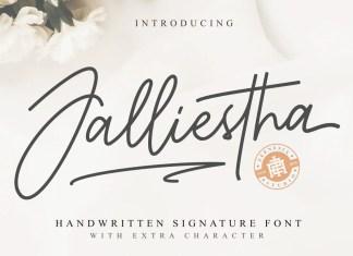 Jalliestha Script Font