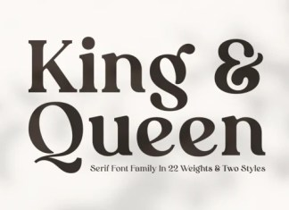 King and Queen Serif Font
