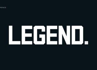 Legend Display Font