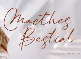 Macthes Bestial Script Font