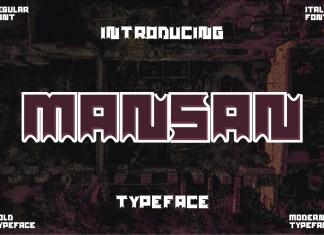 Mansan Display Font