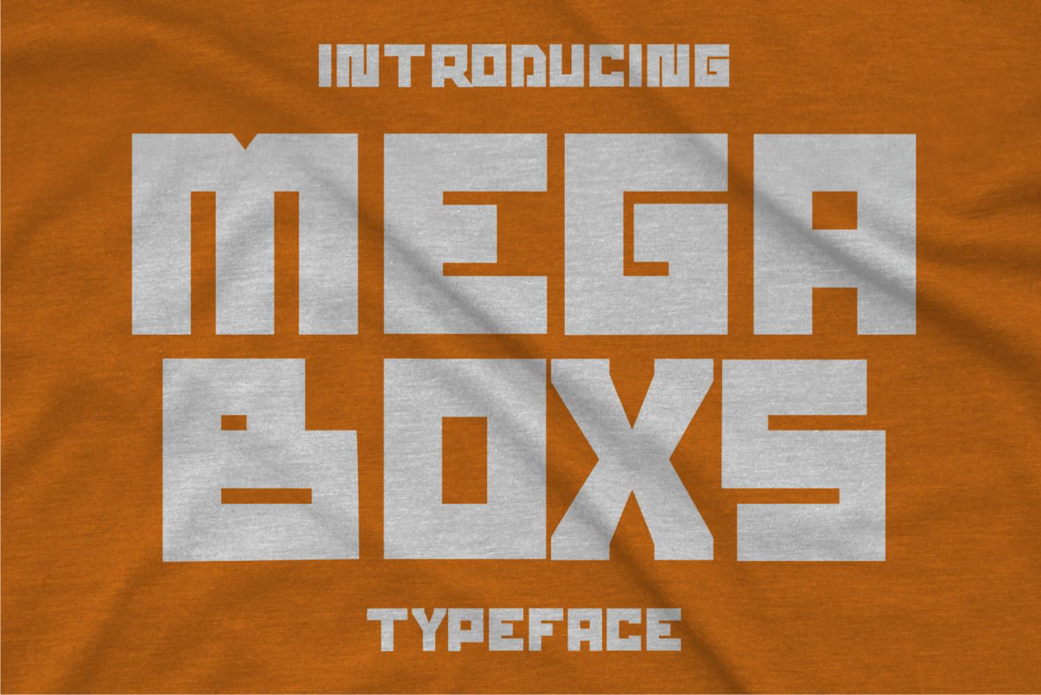 Mega Boxs Display Font