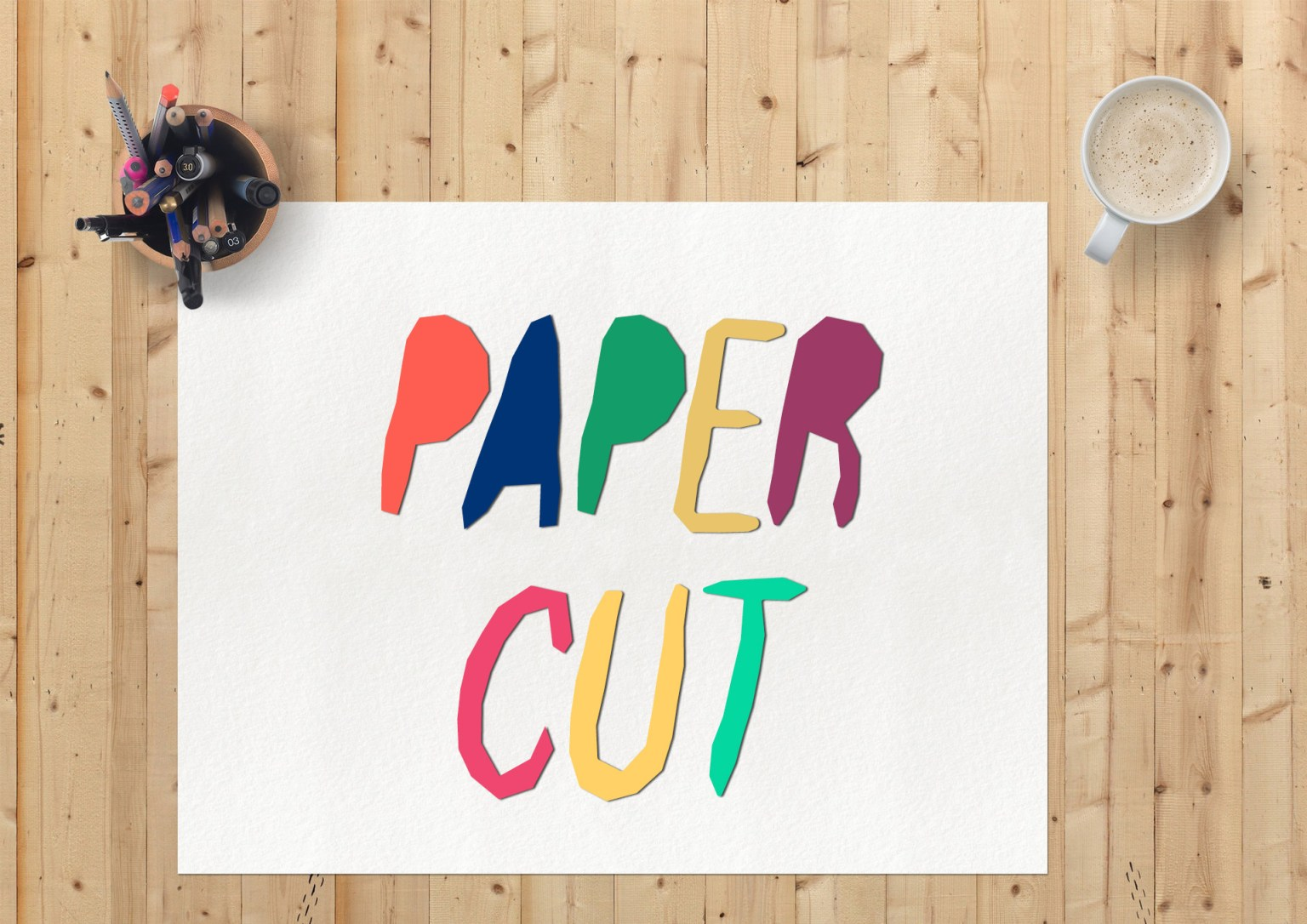 Paper Cut Display Font