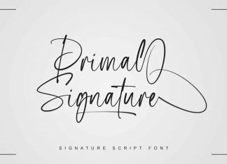 Primal Signature Script Font