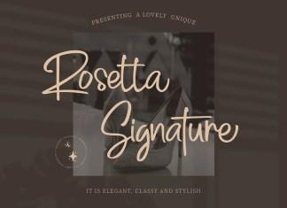Rosetta Signature Script Font
