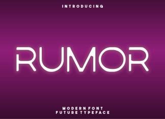 Rumor Display Font