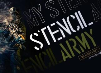 Stencil Display Font