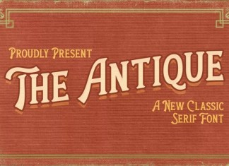 The Antique Display Font