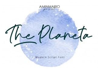 The Planeta Script Font