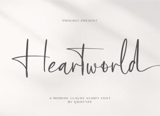 Heartworld Script Font