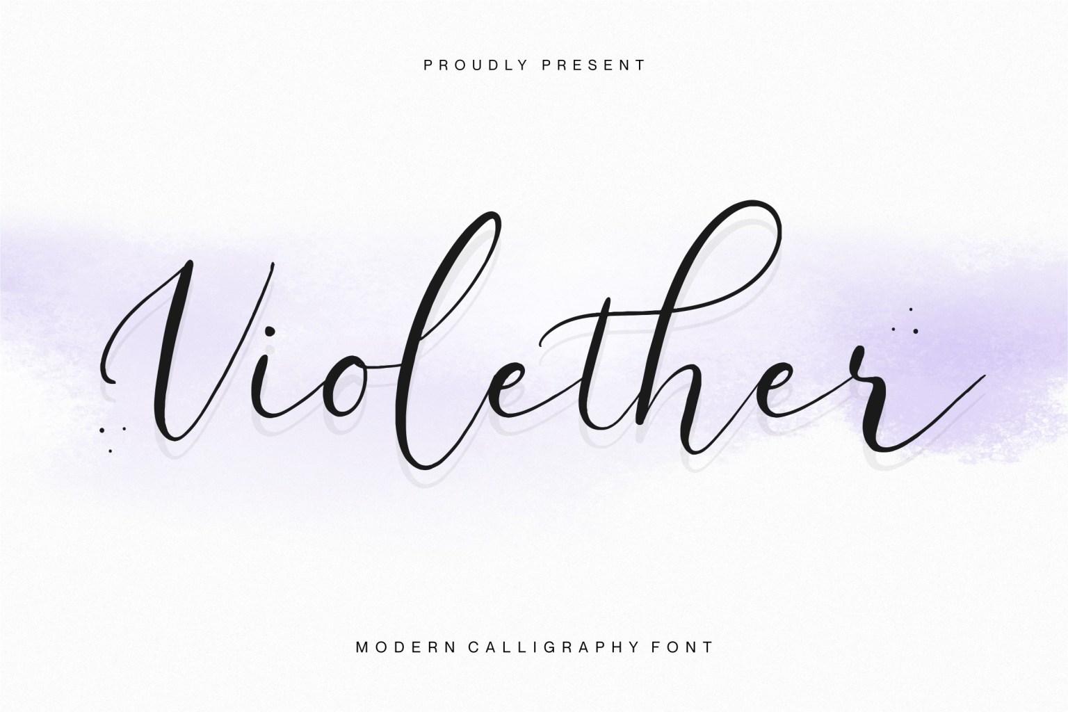 Violether Calligraphy Font