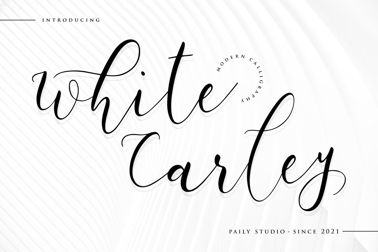 White Carley Calligraphy Font
