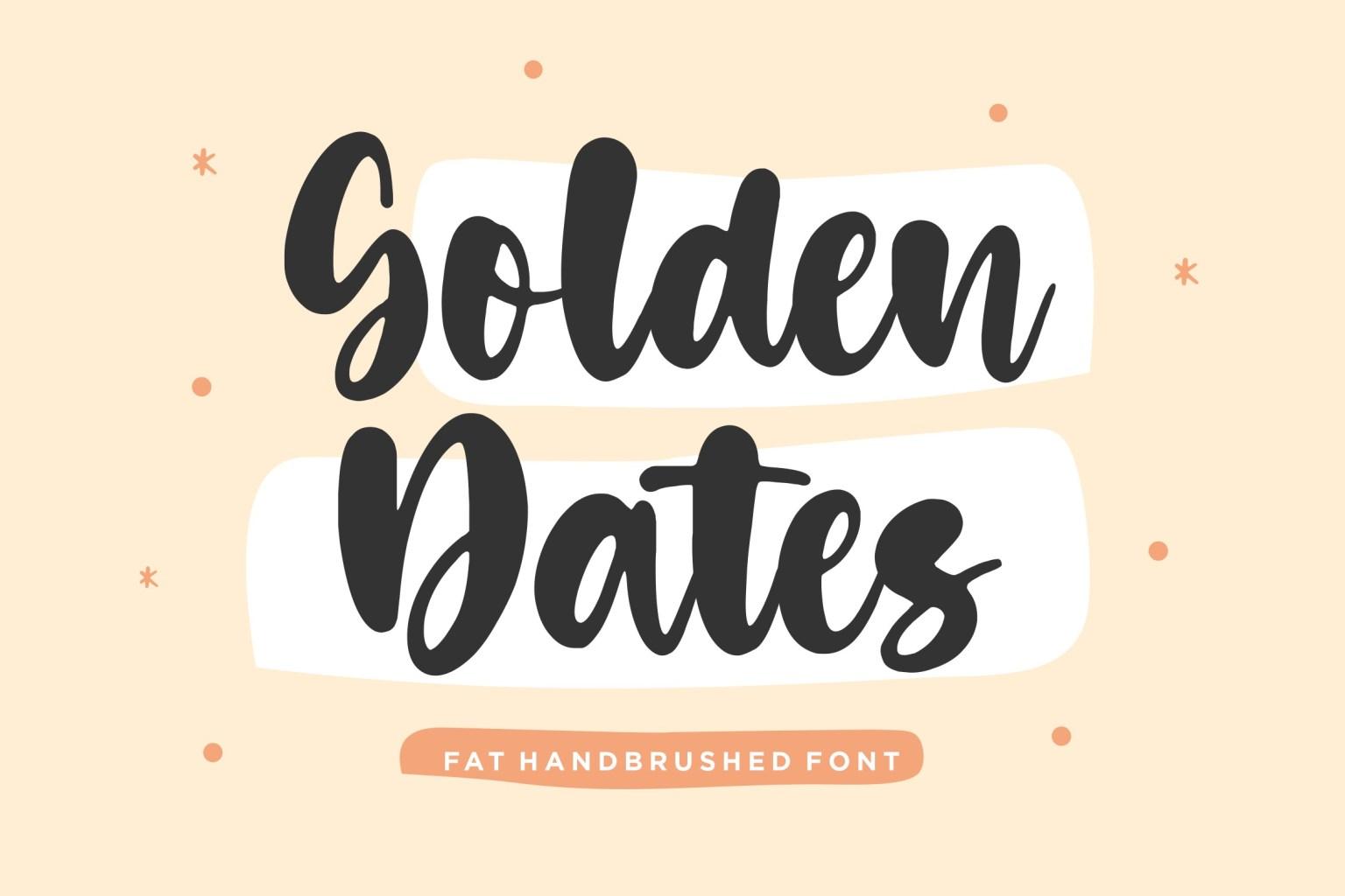 Golden Dates Fat Script Font