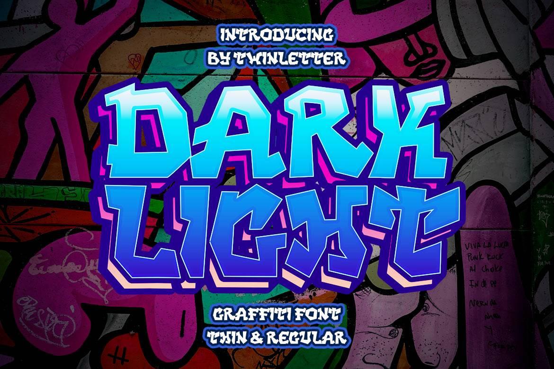 DARK LIGHT Display Font