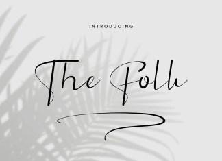 The Folk Script Font