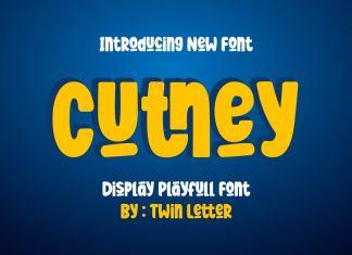 CUTNEY Display Font