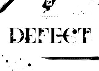 Defect Display Font