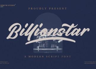 Billionstar Script Font