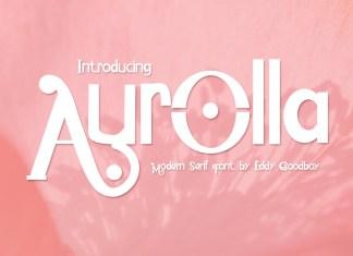 Aurolla Display Font