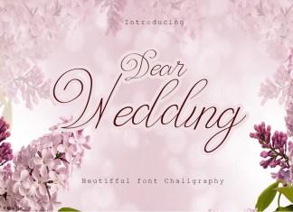 Dear Wedding Calligraphy Font
