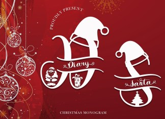 Diary Santa Monogram Script Font