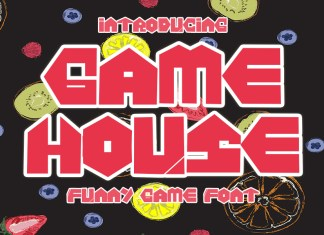 Game House Display Font