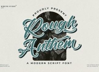 Rough Anthem Script Font