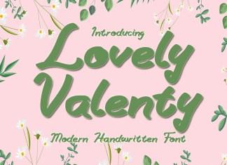 Lovely Valenty Script Font