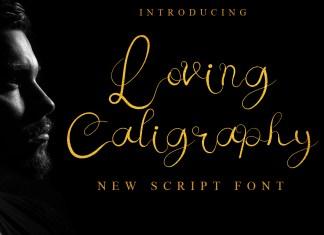 Loving Caligraphy Script Font