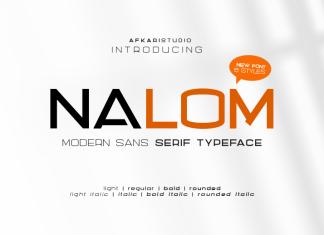 Nalom Sans Serif Font