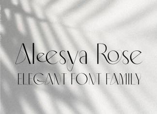 Aleesya Rose Sans Serif Font