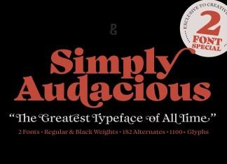 Audacious Serif Font