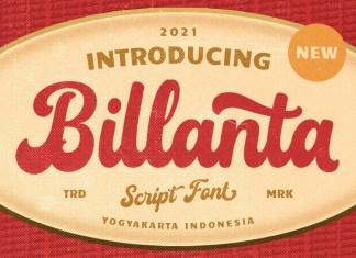 Billanta Bold Script Font