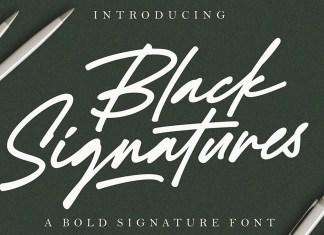 Black Signature Script Font