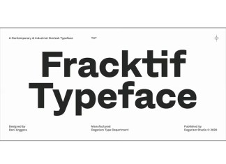 Fracktif Sans Serif Font