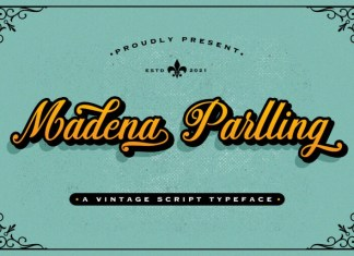 Madena Parlling Script Font