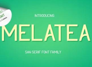 Melatea Sans Serif Font