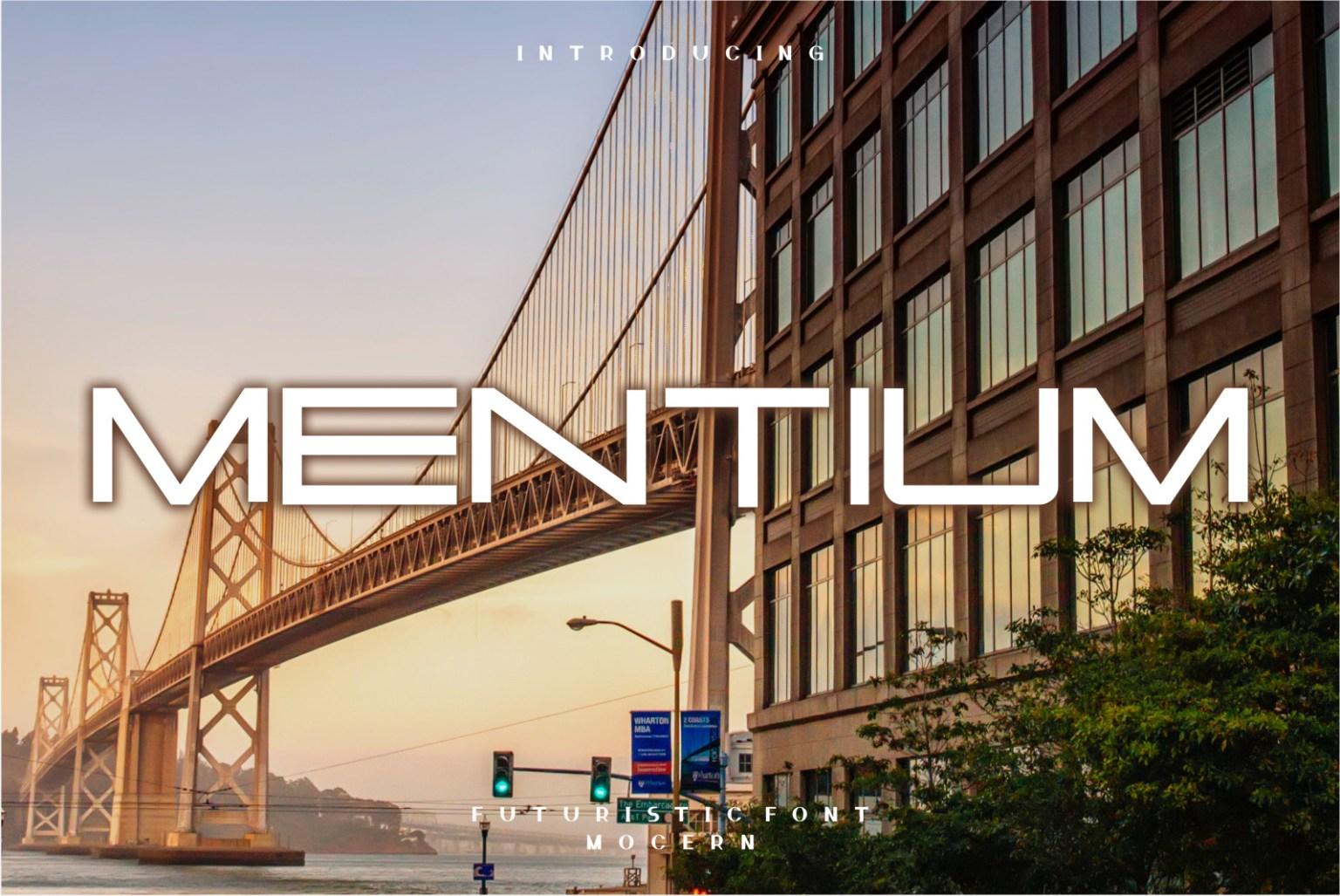 Mentium Display Font