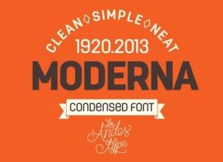 Moderna Condensed Sans Serif Font