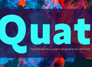 Quat Sans Serif Font